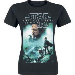Bluzki asymetryczne: Star Wars Episode 8 - Die letzten Jedi - Luke & Rey Koszulka damska czarny