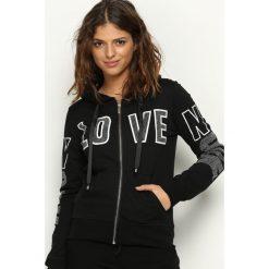 Bluzy damskie: Czarna Bluza Lovin Hood