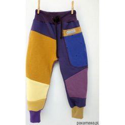Spodnie dresowe dziewczęce: PATCH PANTS spodnie 74 - 98 cm miód & fiołek