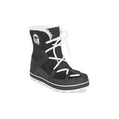 Śniegowce Sorel  GLACY EXPLORER SHORTIE. Czarne buty zimowe damskie Sorel. Za 629,99 zł.
