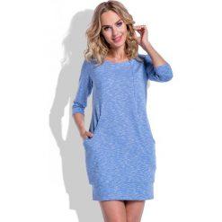 Niebieska Sukienka Krótka z Kieszeniami. Szare sukienki dresowe marki bonprix, melanż, z kapturem, z długim rękawem, maxi. Za 125,00 zł.