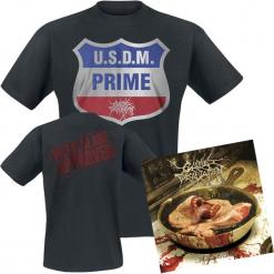 Cattle Decapitation Medium rarities CD + T-Shirt standard. Czarne t-shirty damskie Cattle Decapitation, l, z bawełny. Za 107,90 zł.