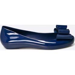 Zaxy  - Baleriny. Niebieskie baleriny damskie lakierowane Zaxy, z materiału. W wyprzedaży za 89,90 zł.