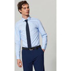 Krawaty męskie: Krawat ścięty – Granatowy