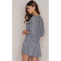 Sukienki: Boohoo Sukienka Gingham – Black,White,Multicolor