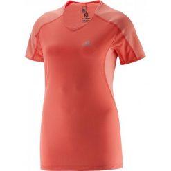 Salomon Koszulka Do Biegania Trail Runner Tee W Coral S. Różowe bluzki sportowe damskie Salomon, s, dekolt w kształcie v. Za 179,00 zł.