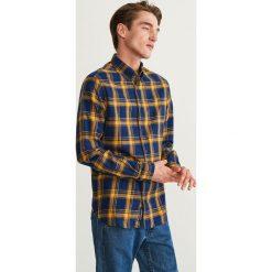 Koszula w kratę regular fit - Żółty. Niebieskie koszule męskie marki Reserved. Za 99,99 zł.