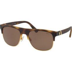 Polo Ralph Lauren - Okulary PH4132. Szare okulary przeciwsłoneczne męskie wayfarery marki Polo Ralph Lauren, z bawełny. Za 499,90 zł.