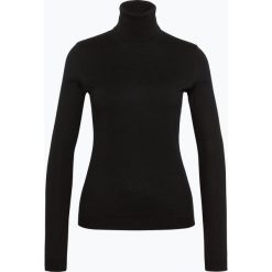 Golfy damskie: BOSS Casual – Sweter damski z dodatkiem jedwabiu – Iddyana, czarny