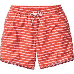 Spodenki i szorty męskie: Długie szorty plażowe w paski bonprix koralowy w paski