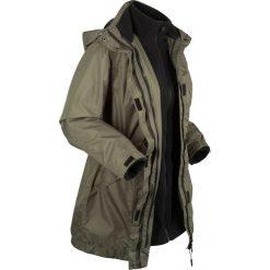 Płaszcz outdoorowy funkcyjny 3 w 1 bonprix ciemnooliwkowo-czarny. Zielone płaszcze damskie bonprix, s, z polaru. Za 299,99 zł.