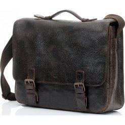 Torby na laptopa: Ciemno brązowa męska torba Skórzana DAAG PRIMO