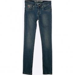 Pepe Jeans - Jeansy dziecięce Pau 122-180 cm. Niebieskie rurki dziewczęce Pepe Jeans, z bawełny. Za 179,90 zł.