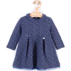Sukienka. Niebieskie sukienki dziewczęce PRINCESS, z bawełny, z długim rękawem, długie. Za 49,90 zł.