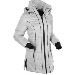 Płaszcze damskie pastelowe: Płaszcz termoaktywny pikowany bonprix srebrny matowy