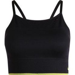 Biustonosze sportowe: Nike Performance NEW SEAMLESS BRALETTE TIPPED Biustonosz sportowy black/volt