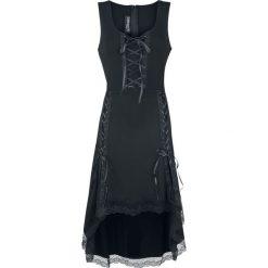 Gothicana by EMP Isolt Sukienka czarny. Czarne sukienki koronkowe marki Gothicana by EMP, m, w koronkowe wzory, z dekoltem na plecach. Za 199,90 zł.