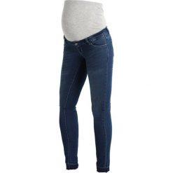 MAMALICIOUS MLULRIKA RAW  Jeansy Slim Fit dark blue denim. Niebieskie jeansy damskie MAMALICIOUS. Za 239,00 zł.