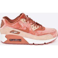 Nike Sportswear - Buty Wmns Air Max 90 Lx. Różowe buty sportowe damskie marki Nike Sportswear, l, z nylonu, z okrągłym kołnierzem. W wyprzedaży za 539,90 zł.