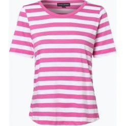 Franco Callegari - T-shirt damski, różowy. Czerwone t-shirty damskie Franco Callegari, w paski, z dżerseju, z klasycznym kołnierzykiem. Za 69,95 zł.