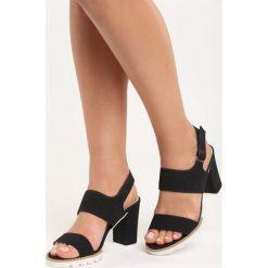 Rzymianki damskie: Czarne Sandały Tough Life