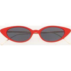 Okulary przeciwsłoneczne - Czerwony. Czerwone okulary przeciwsłoneczne damskie aviatory Reserved. Za 39,99 zł.