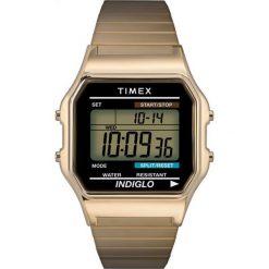 Timex - Zegarek T78677. Czarne zegarki męskie marki Fossil, szklane. Za 279,90 zł.