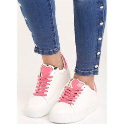 Biało-Fuksjowe Buty Sportowe You'll Love It. Pomarańczowe buty sportowe damskie marki Born2be, z materiału. Za 79,99 zł.