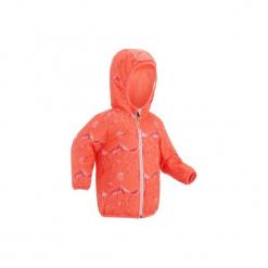 Kurtka na sanki Warm Reverse dla maluchów. Czerwone kurtki męskie zimowe WED'ZE, l, z nadrukiem, z materiału, narciarskie. Za 99,99 zł.