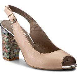 Rzymianki damskie: Sandały ANN MEX – 7844 03B+03GK Beż/Róż