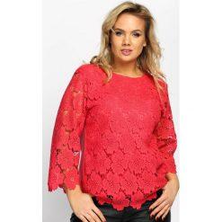 Bluzki asymetryczne: Czerwona Bluzka Sunny Side