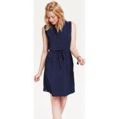 Sukienki: SUKIENKA DAMSKA PRZED KOLANO Z WIĄZANIEM W PASIE