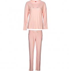 """Piżama """"Soft Dreams"""" w kolorze brzoskwiniowym. Białe piżamy damskie marki LASCANA, w koronkowe wzory, z koronki. W wyprzedaży za 104,95 zł."""