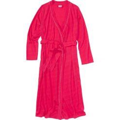 Szlafrok z dzianiny shirtowej bonprix różowy hibiskus. Czerwone szlafroki kimona damskie bonprix, w paski, z dzianiny. Za 74,99 zł.