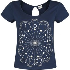 Bluzki asymetryczne: Harry Potter Zaubersprüche Koszulka damska granatowy