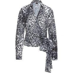 Bluzki damskie: Bluzka kopertowa bonprix w cętki leoparda