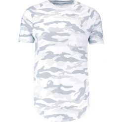 T-shirty męskie z nadrukiem: SIKSILK RAGLAN CURVED HEM TEE Tshirt z nadrukiem white