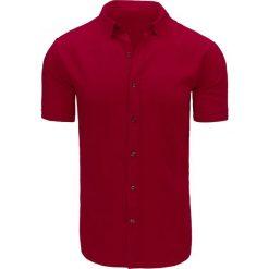 Koszule męskie na spinki: Koszula męska bordowa (kx0835)