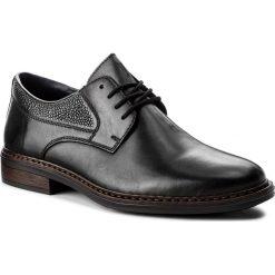 Półbuty RIEKER - 17628-00 Schwarz. Czarne buty wizytowe męskie Rieker, z materiału. Za 279,00 zł.