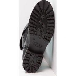Franco Russo Napoli Muszkieterki med armor nero. Czarne buty zimowe damskie Franco Russo Napoli, z materiału. W wyprzedaży za 388,15 zł.