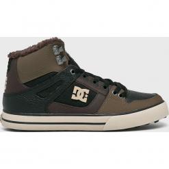 DC - Buty. Szare buty skate męskie DC, z materiału, na sznurówki. W wyprzedaży za 379,90 zł.