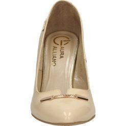 CZÓŁENKA LAURA GALIANO 1505. Brązowe buty ślubne damskie Casu, na koturnie. Za 209,99 zł.