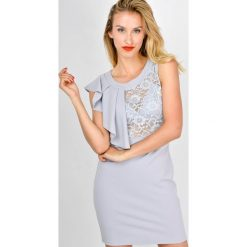 Sukienki: Sukienka z koronkową górą