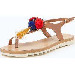 Marc Cain Bags & Shoes - Sandały damskie ze skóry, beżowy. Brązowe sandały damskie z frędzlami marki Marc Cain Bags & Shoes, ze skóry. Za 449,95 zł.