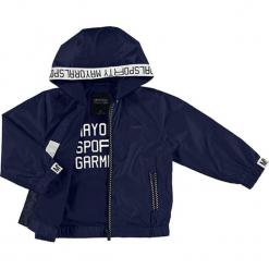 Kurtka w kolorze granatowym. Niebieskie kurtki chłopięce marki Mayoral. W wyprzedaży za 127,95 zł.