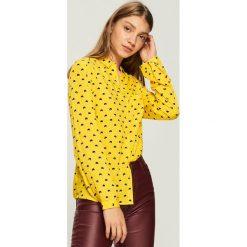 Koszula - Żółty. Żółte koszule damskie marki Mohito, l, z dzianiny. Za 39,99 zł.