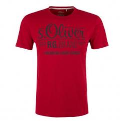 S.Oliver T-Shirt Męski M Czerwony. Czerwone t-shirty męskie z nadrukiem S.Oliver, m. Za 39,00 zł.