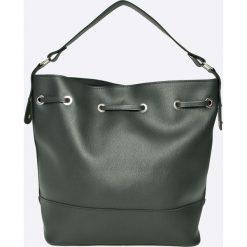 Manzana - Torebka. Szare torebki klasyczne damskie Manzana, w paski, z materiału, duże. W wyprzedaży za 99,90 zł.