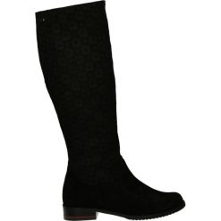 Kozaki ocieplane - 46 CAM NERO. Czarne buty zimowe damskie marki Kazar, ze skóry, na wysokim obcasie. Za 249,00 zł.