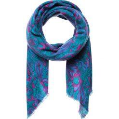 Chusty damskie: Chusta w kolorze niebiesko-różowym – 140 x 140 cm